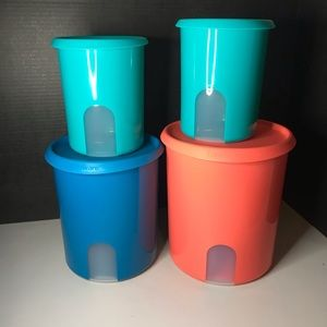 Tupperware One Touch Reminder Canister Set